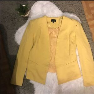 Topshop yellow blazer
